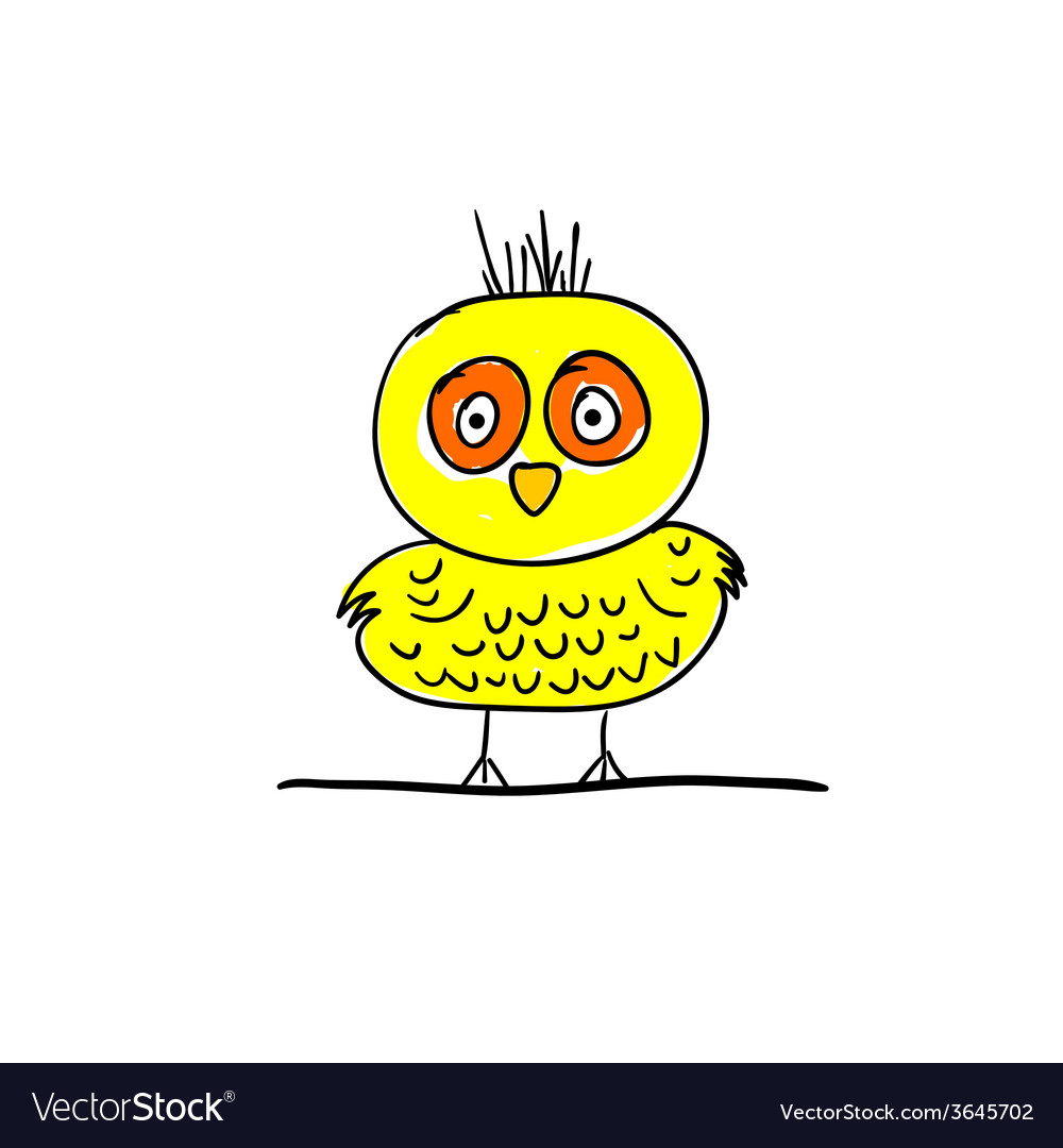 Bird funny cartoon vector | Price: 1 Credit (USD $1)