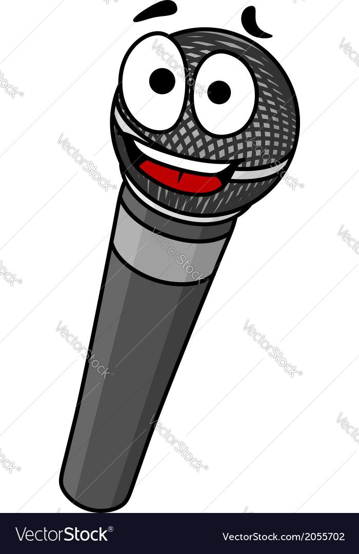 Cartoon handheld microphone vector | Price: 1 Credit (USD $1)