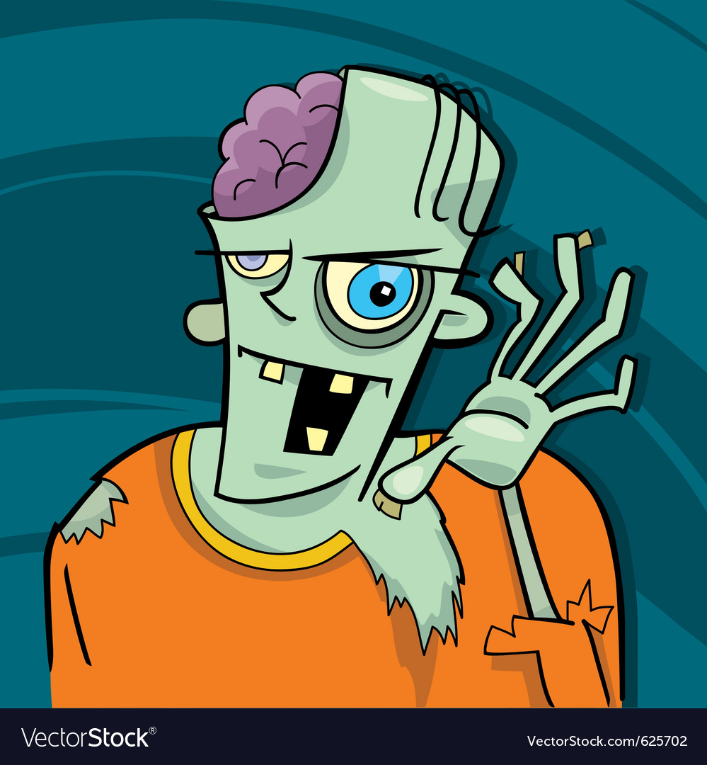 Cartoon zombie vector | Price: 1 Credit (USD $1)