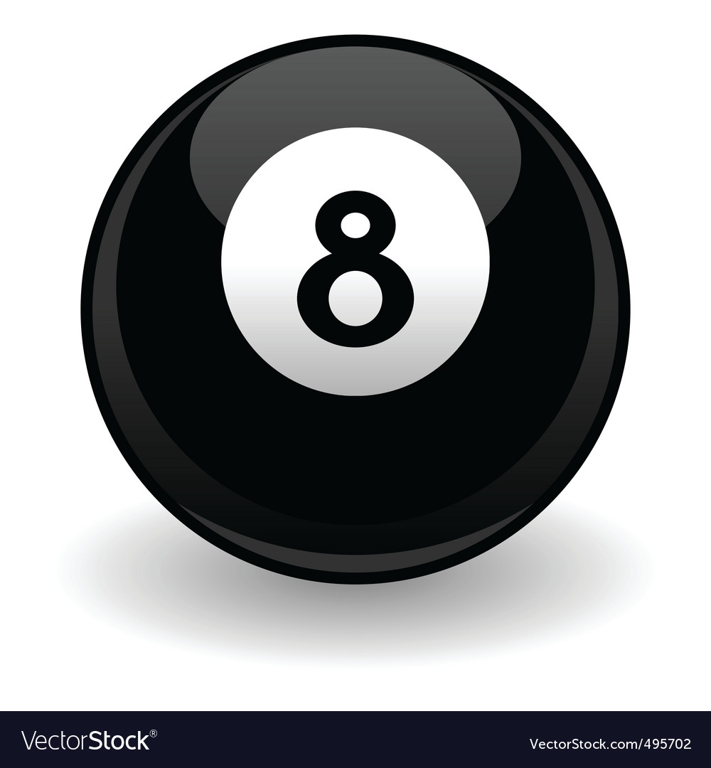 Eight ball vector | Price: 1 Credit (USD $1)