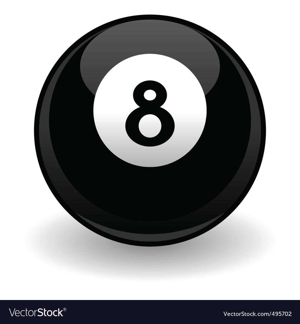 Eight ball vector | Price: 1 Credit (USD $1)
