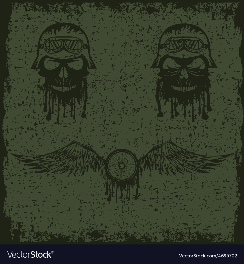 Grunge biker theme labels with wheelbike and vector | Price: 1 Credit (USD $1)