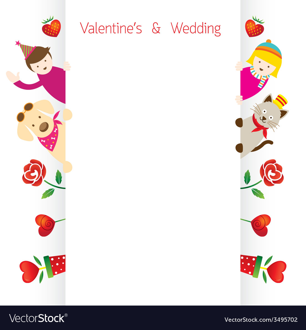 Love concept background and border vector | Price: 1 Credit (USD $1)