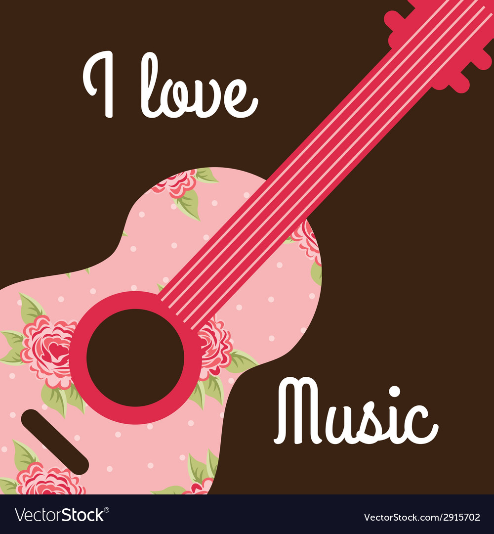 Love music design vector | Price: 1 Credit (USD $1)