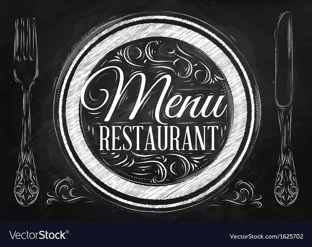 Menu restaurant chalk vector | Price: 1 Credit (USD $1)