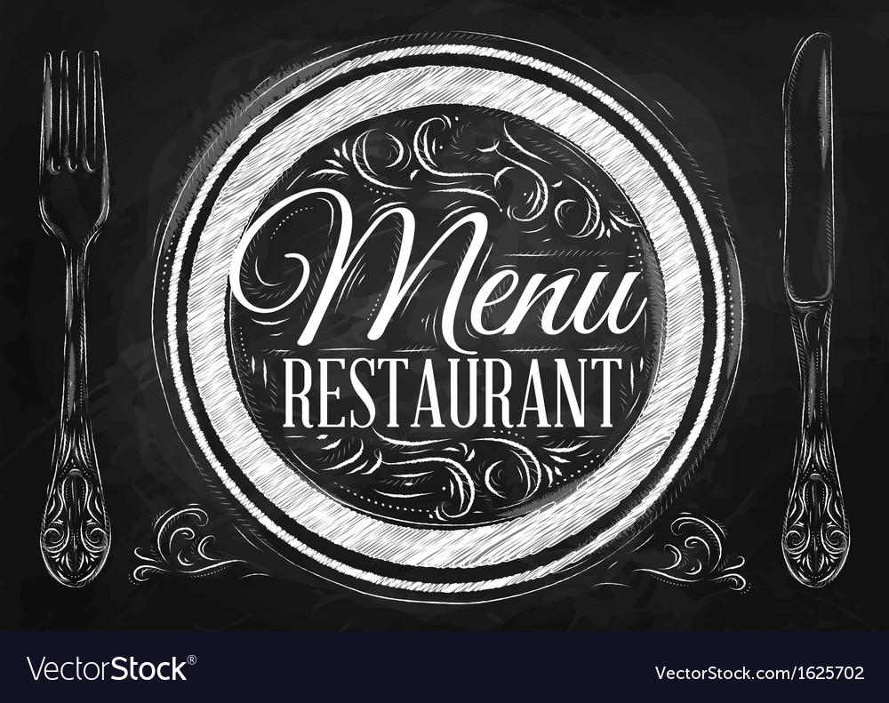 Menu restaurant chalk vector | Price: 1 Credit (USD $1)
