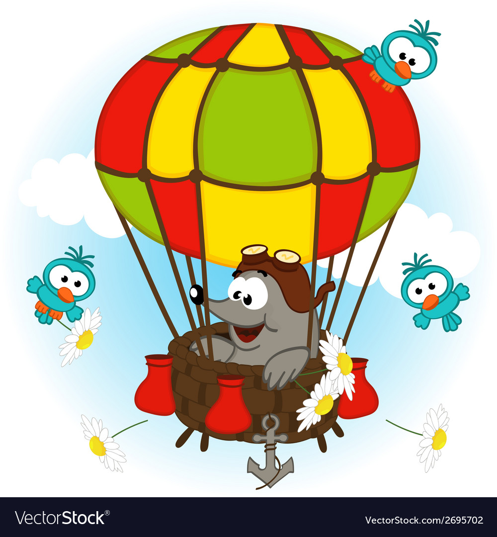 Mole in balloon vector   Price: 1 Credit (USD $1)