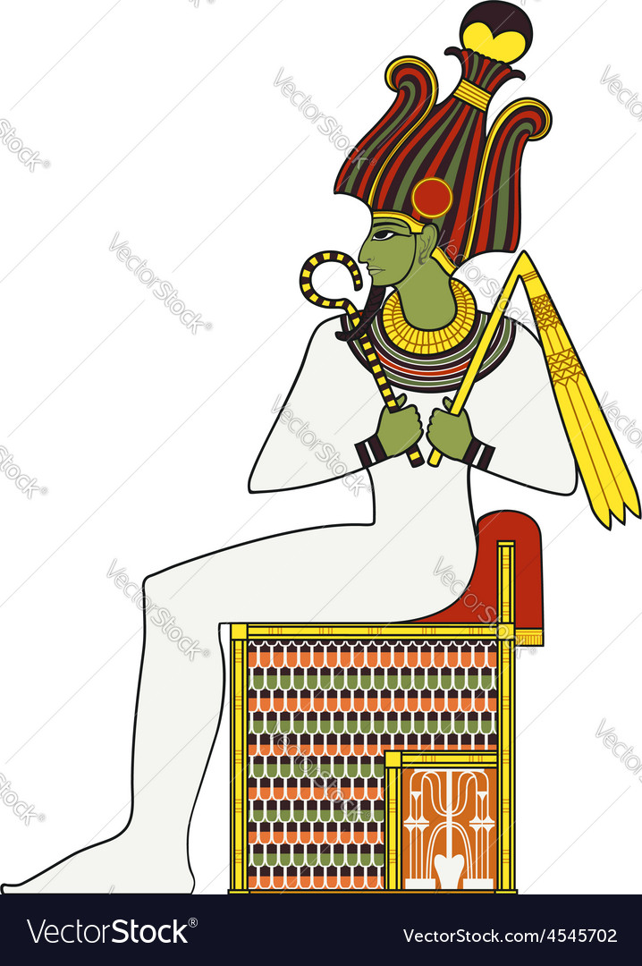 Osiris isolated figure of ancient egypt god vector | Price: 1 Credit (USD $1)
