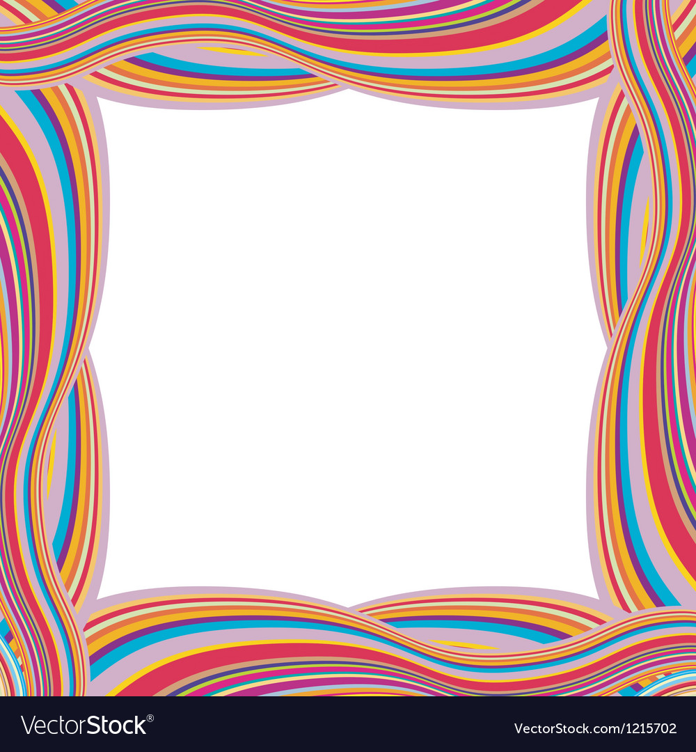 Retro striped frame with colored stripes vector | Price: 1 Credit (USD $1)
