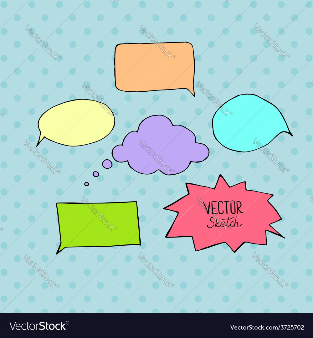 Set of blank speech bubbles with space for text vector | Price: 1 Credit (USD $1)