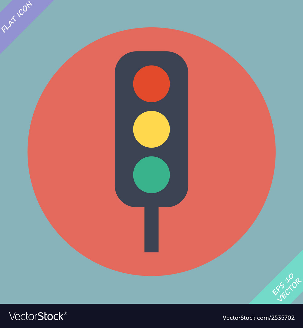 Traffic lights icon - vector | Price: 1 Credit (USD $1)