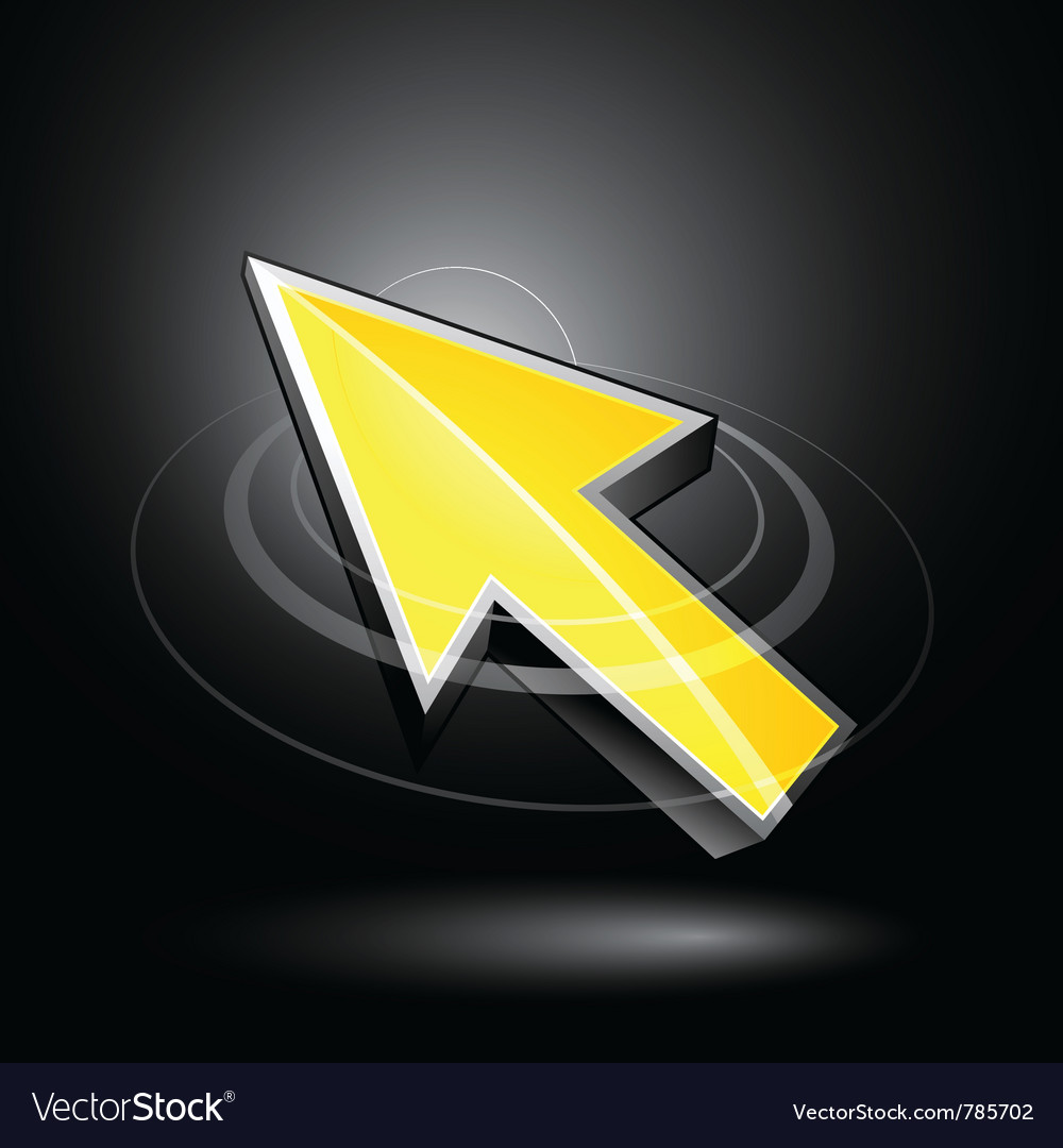 Yellow directional arrow vector | Price: 3 Credit (USD $3)