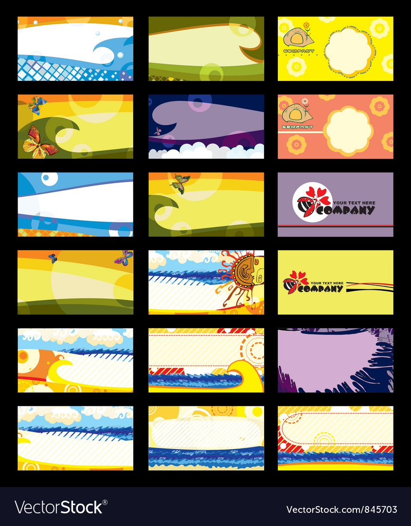 Business card set horizontal vector | Price: 3 Credit (USD $3)