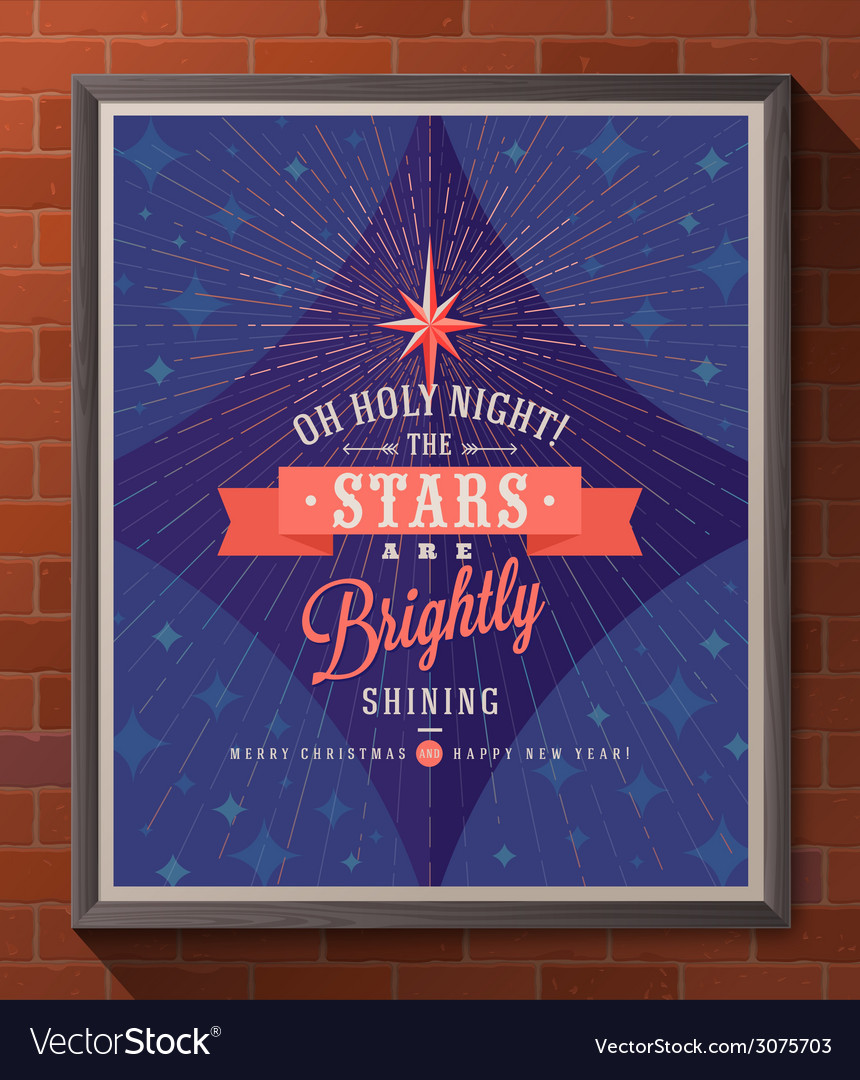 Christmas poster with type design vector | Price: 1 Credit (USD $1)
