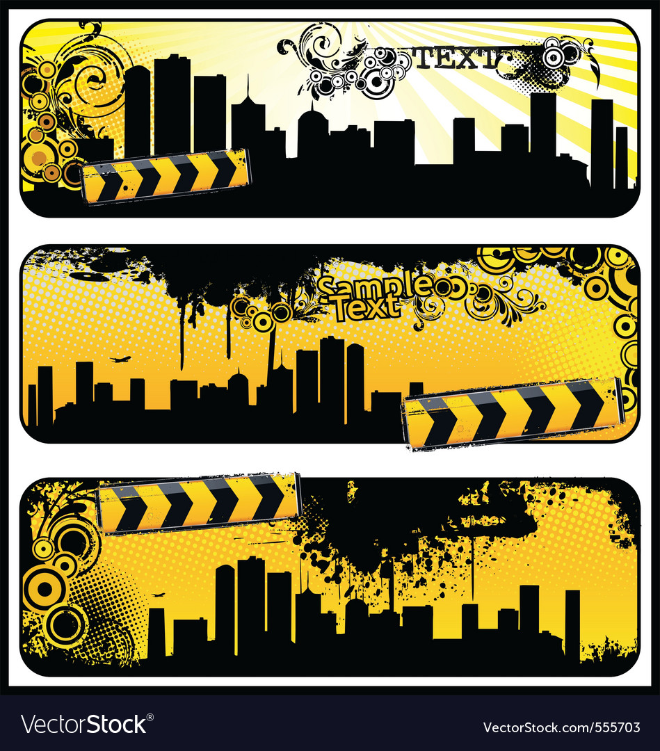 City banners vector | Price: 1 Credit (USD $1)