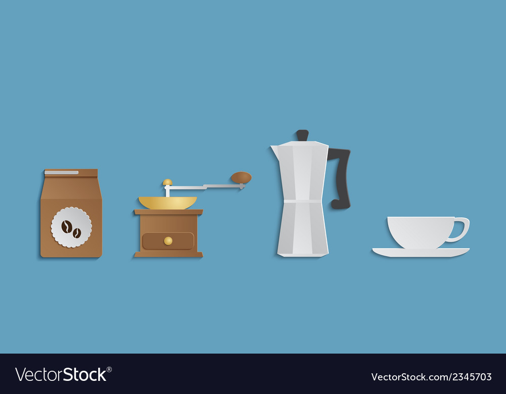 Coffee accessories set vector | Price: 1 Credit (USD $1)