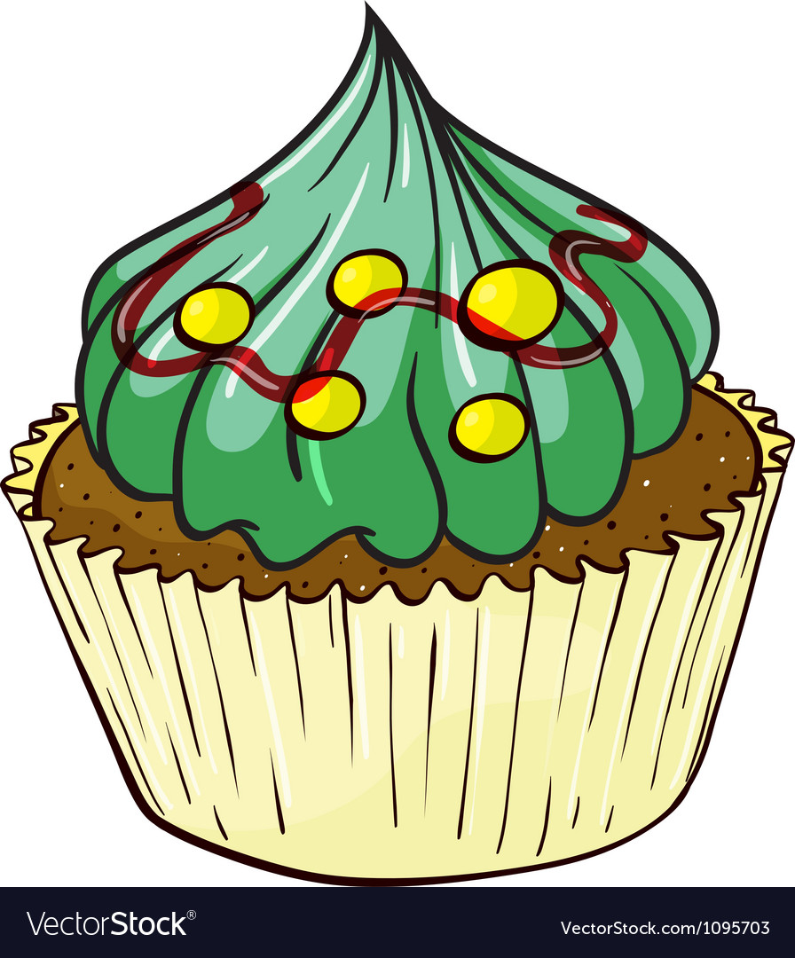 Cupcake vector | Price: 1 Credit (USD $1)
