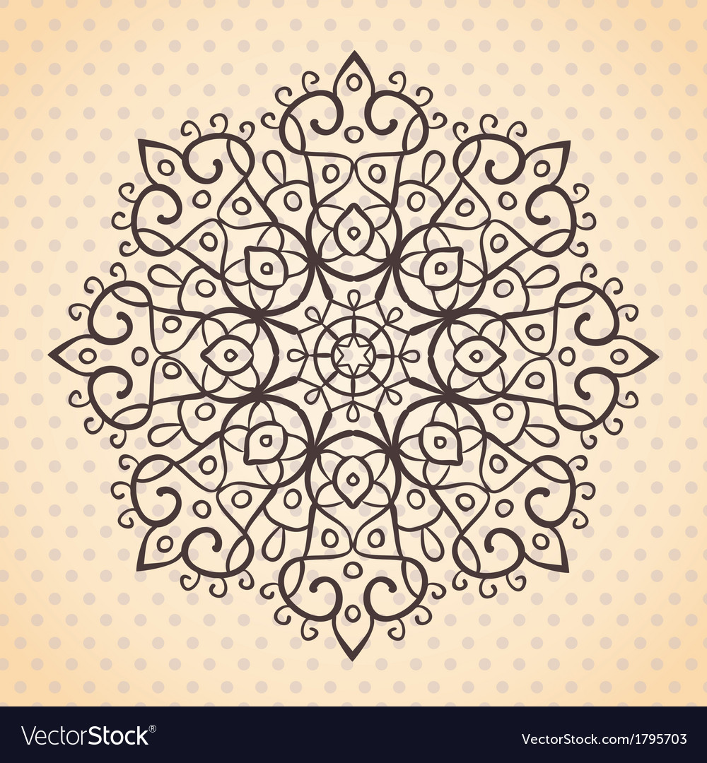 Ehtnic lace round element vector | Price: 1 Credit (USD $1)