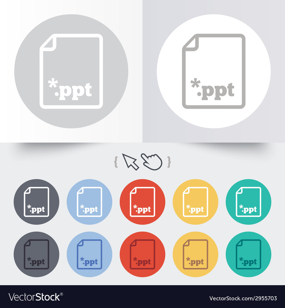 File presentation icon download ppt button vector | Price: 1 Credit (USD $1)