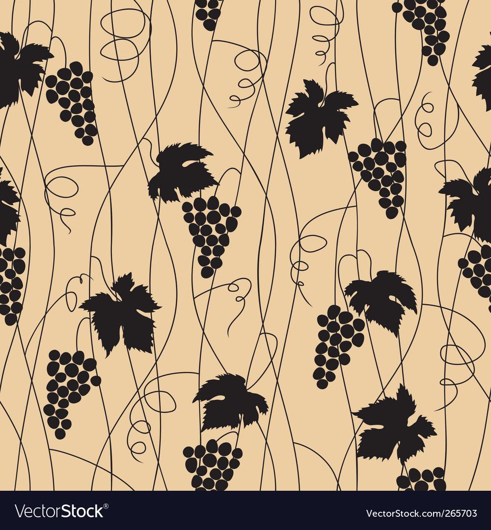 Grape seamless pattern vector | Price: 1 Credit (USD $1)