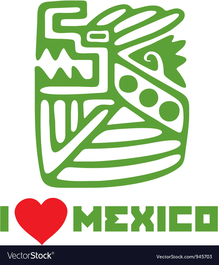 I love mexico template design vector | Price: 1 Credit (USD $1)