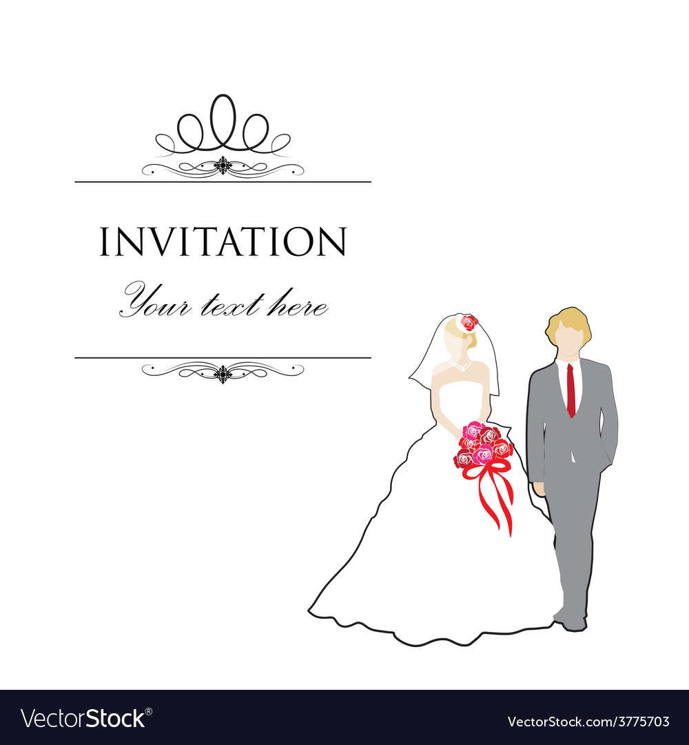 Just married wedding couple vector | Price: 1 Credit (USD $1)