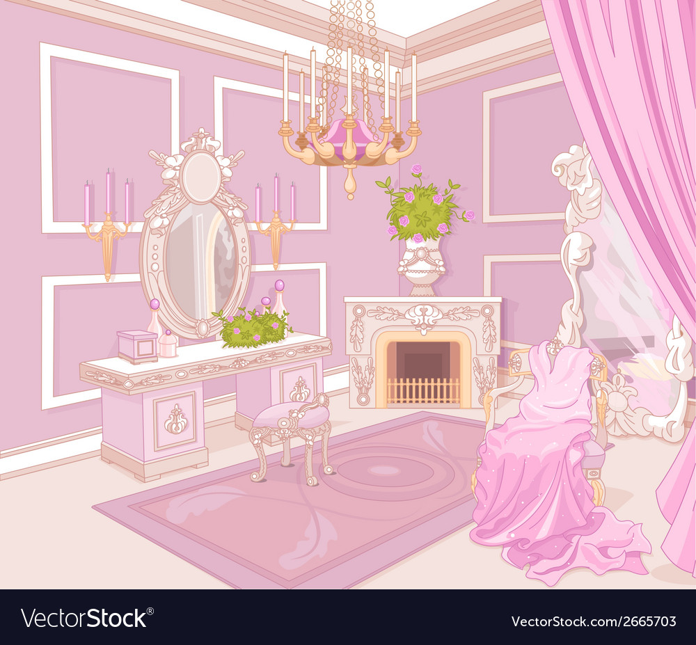 Princess dressing room vector | Price: 3 Credit (USD $3)