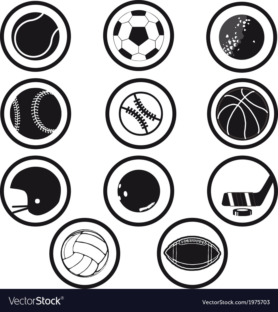 Sport icons black and white vector | Price: 1 Credit (USD $1)