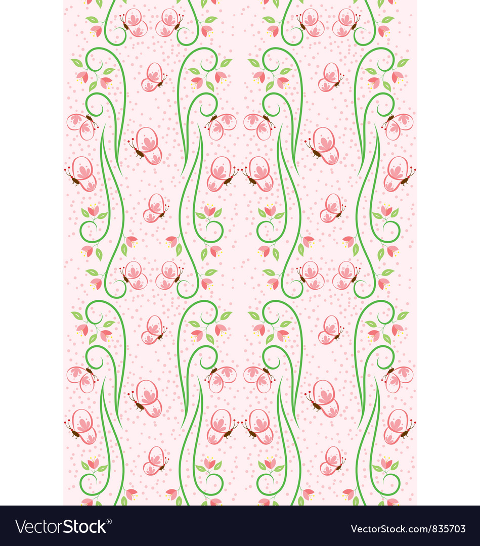 Swirl nature butterfly pattern 2 vector | Price: 1 Credit (USD $1)