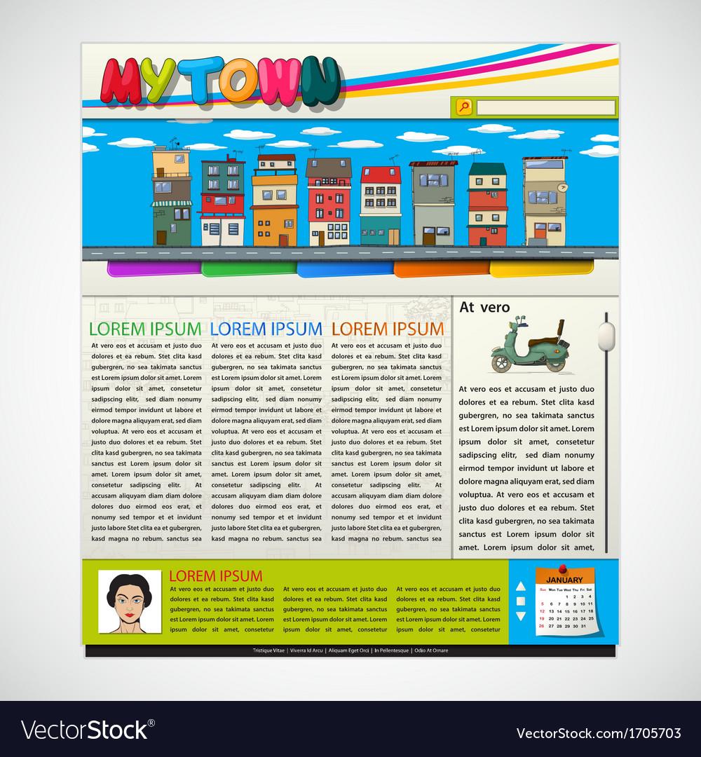 Website blog template vector | Price: 1 Credit (USD $1)