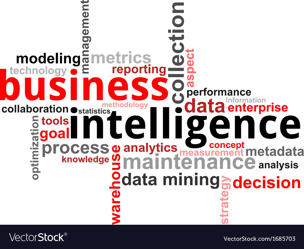 Word cloud business intelligence vector | Price: 1 Credit (USD $1)