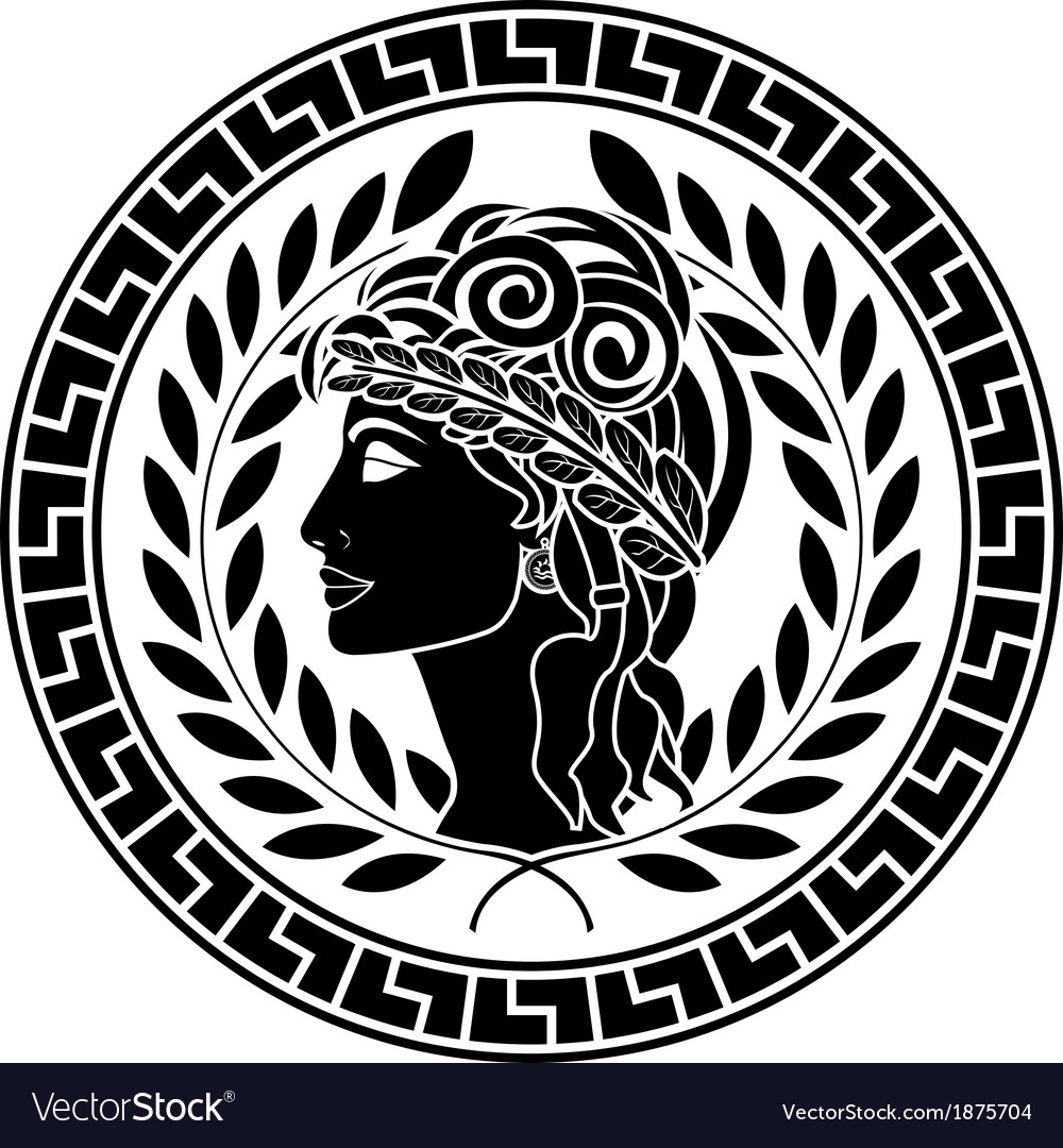 Black stencil of patrician women vector | Price: 1 Credit (USD $1)