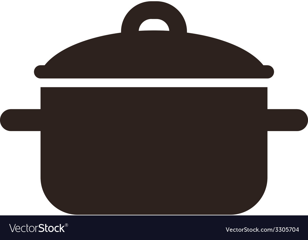 Cooking pot symbol vector | Price: 1 Credit (USD $1)