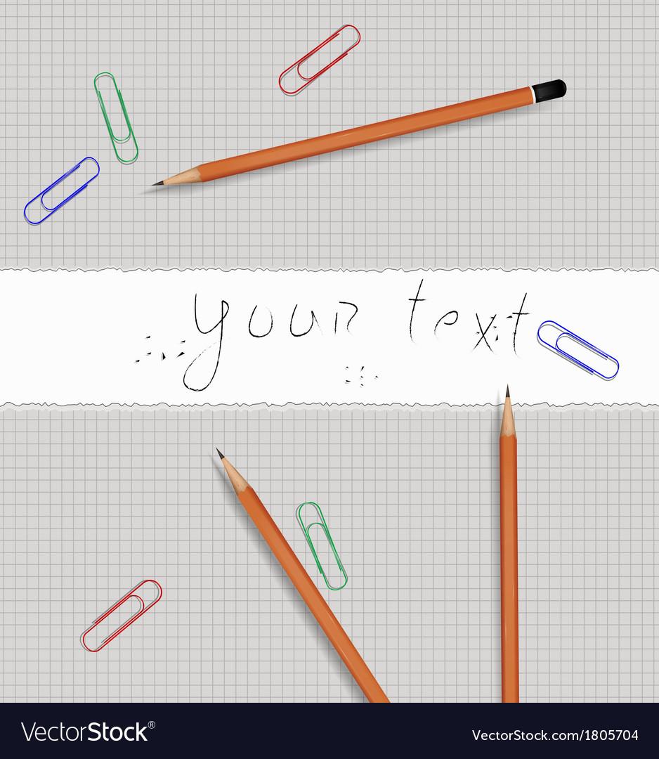 Pencil tools vector | Price: 1 Credit (USD $1)