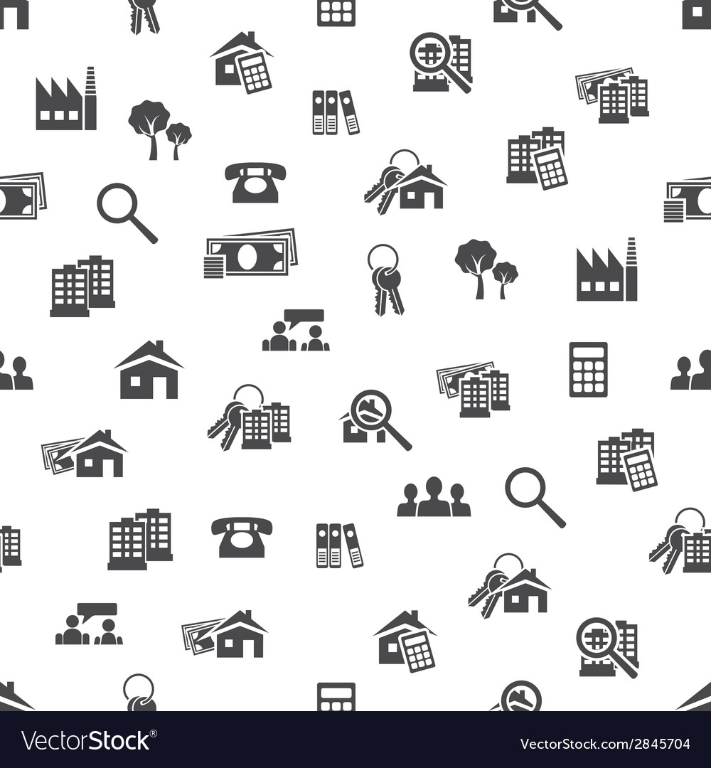 Real estate seamless pattern vector | Price: 1 Credit (USD $1)
