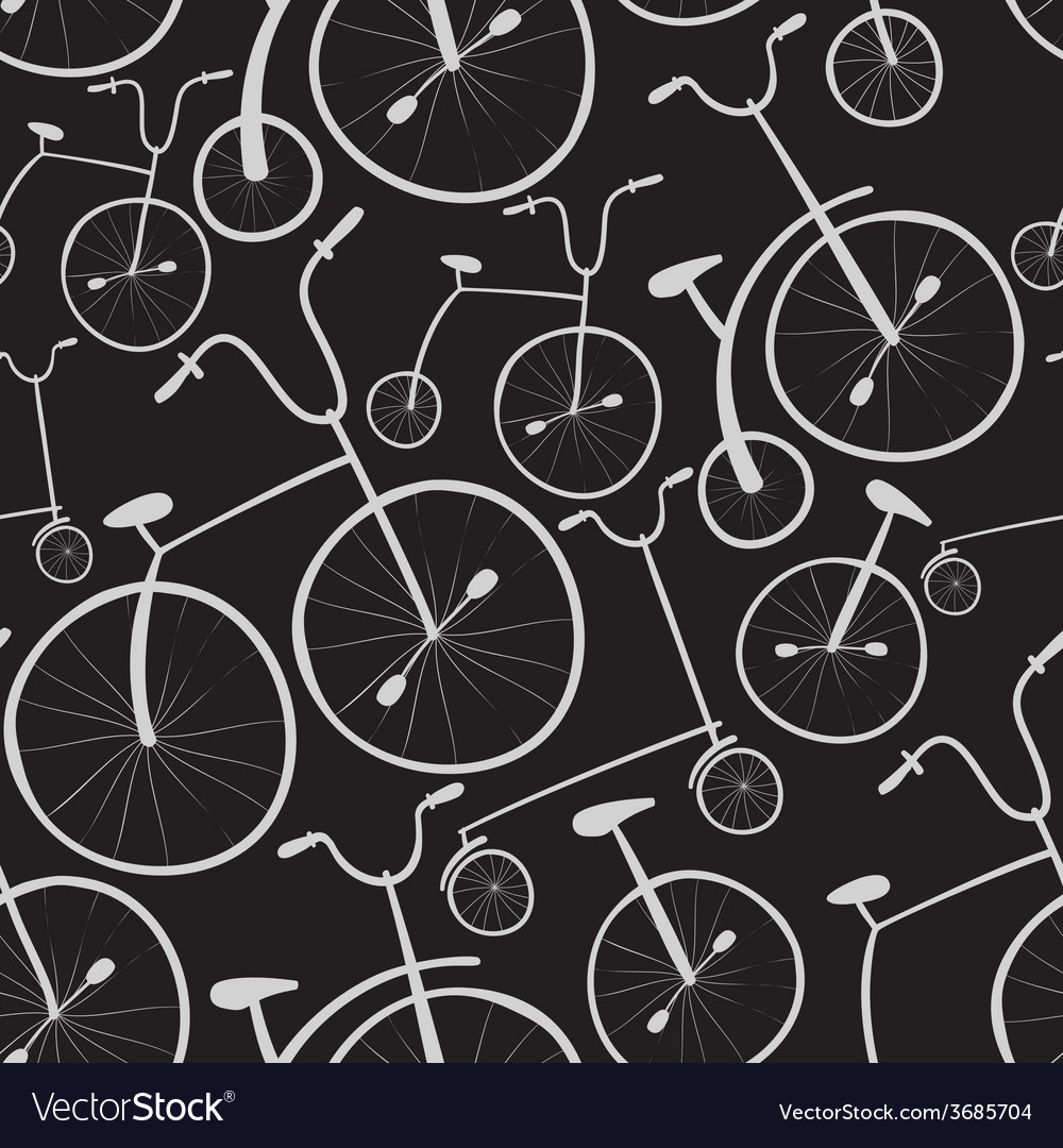 Seamless bicycles pattern bikes use for pattern vector | Price: 1 Credit (USD $1)