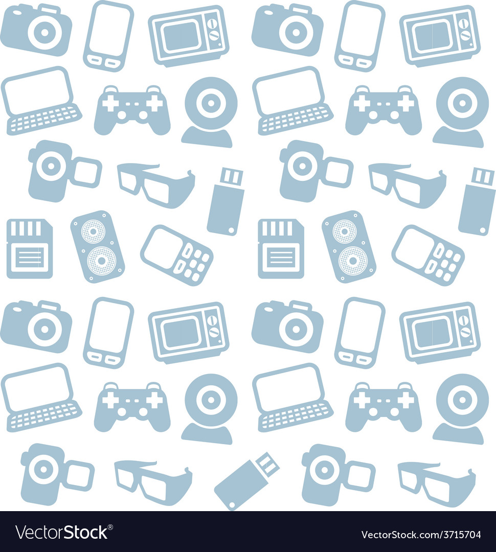Seamless web icons pattern vector   Price: 1 Credit (USD $1)