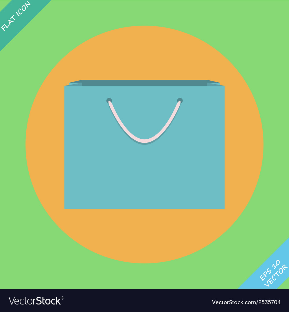 Shopping bag icon - vector | Price: 1 Credit (USD $1)