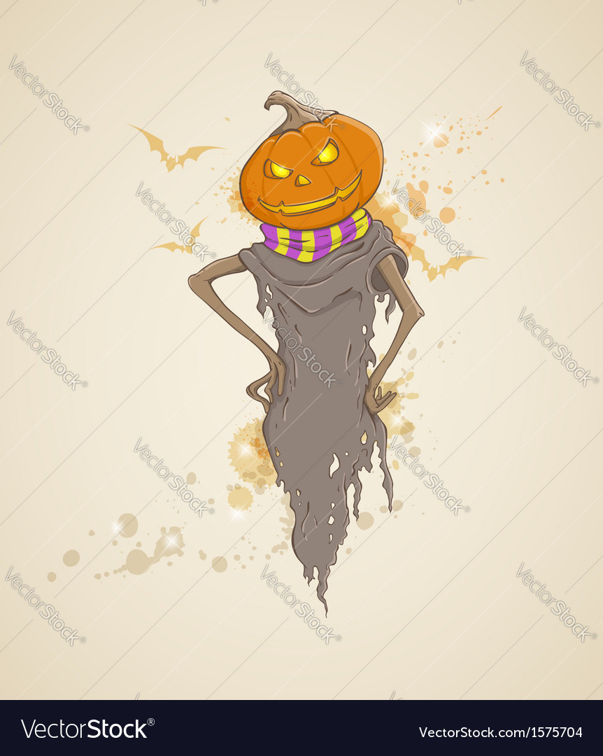 Spooky pumpkin vector | Price: 1 Credit (USD $1)