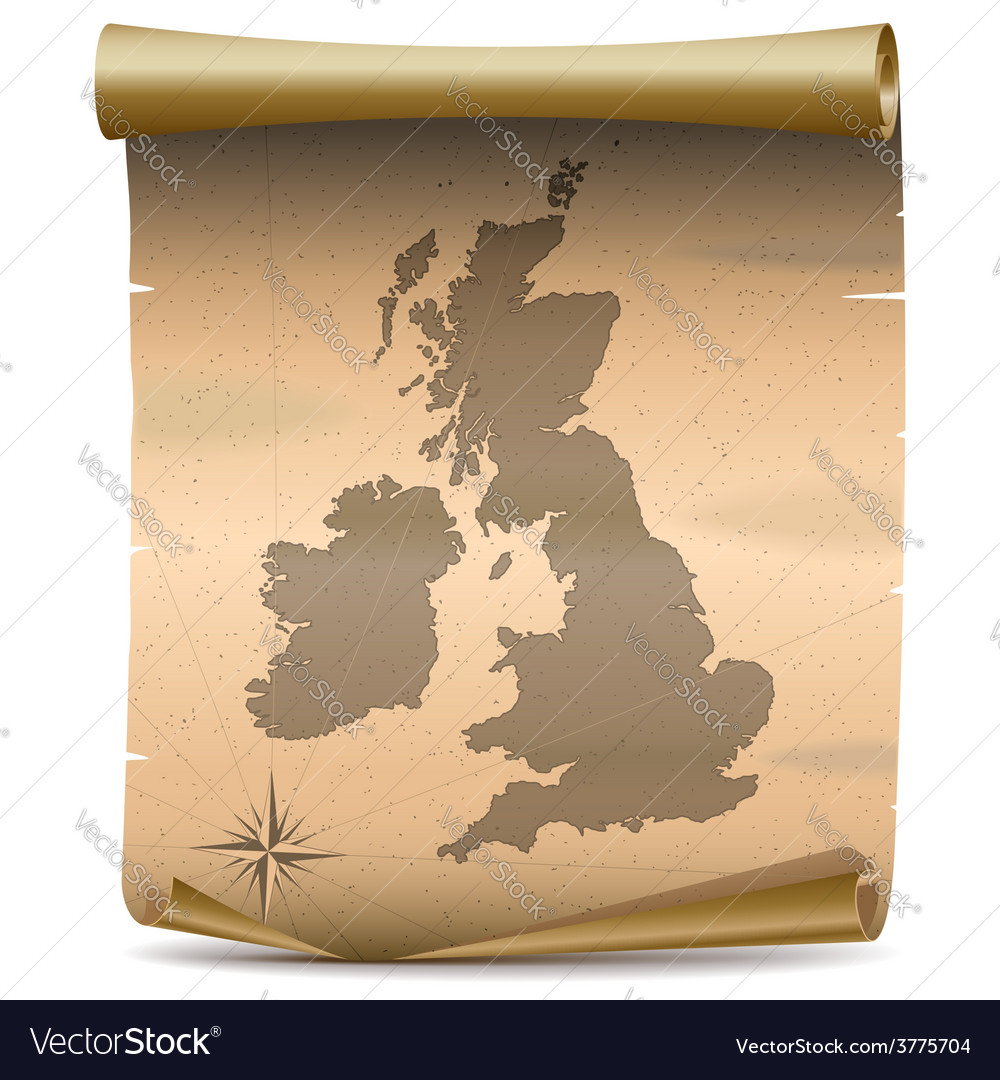 United kingdom vintage map vector | Price: 3 Credit (USD $3)