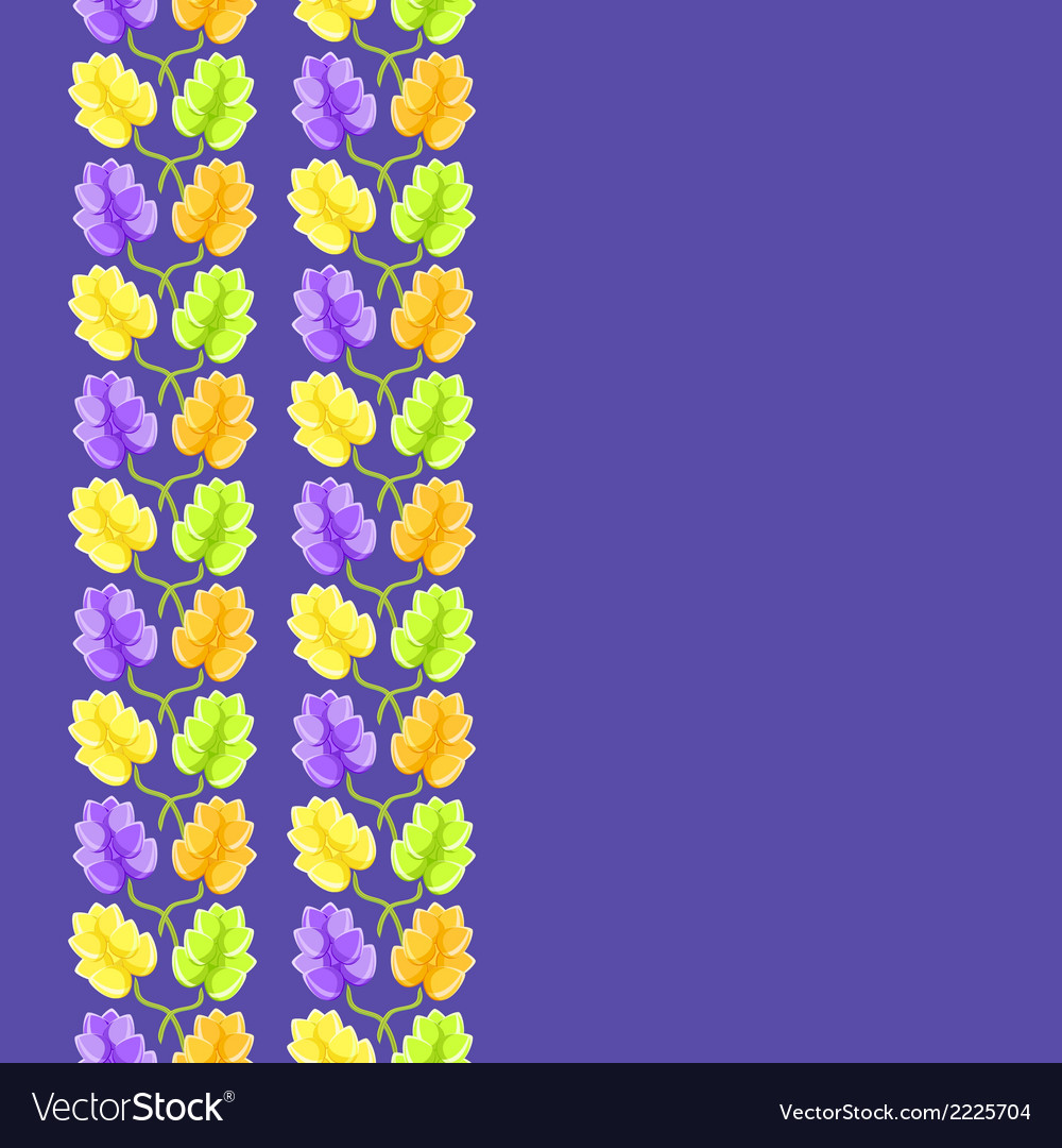 Violet flower seamless pattern vector | Price: 1 Credit (USD $1)