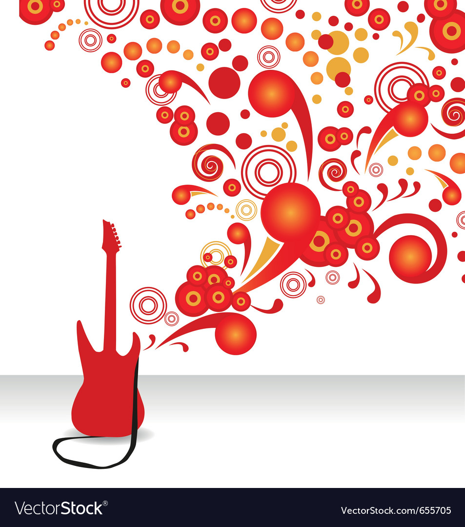 Abstract guitar background vector | Price: 1 Credit (USD $1)