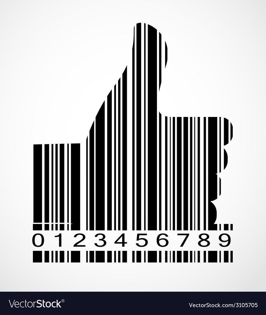 Barcode hand symbol image vector | Price: 1 Credit (USD $1)