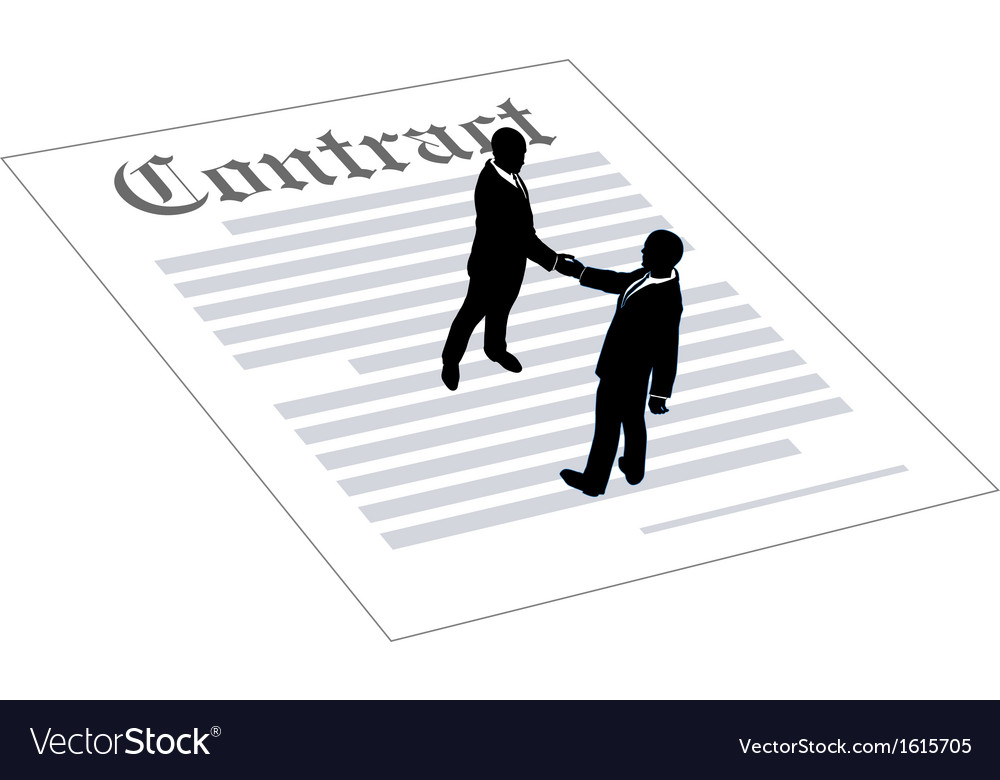 Contract business people sign agreement vector | Price: 1 Credit (USD $1)