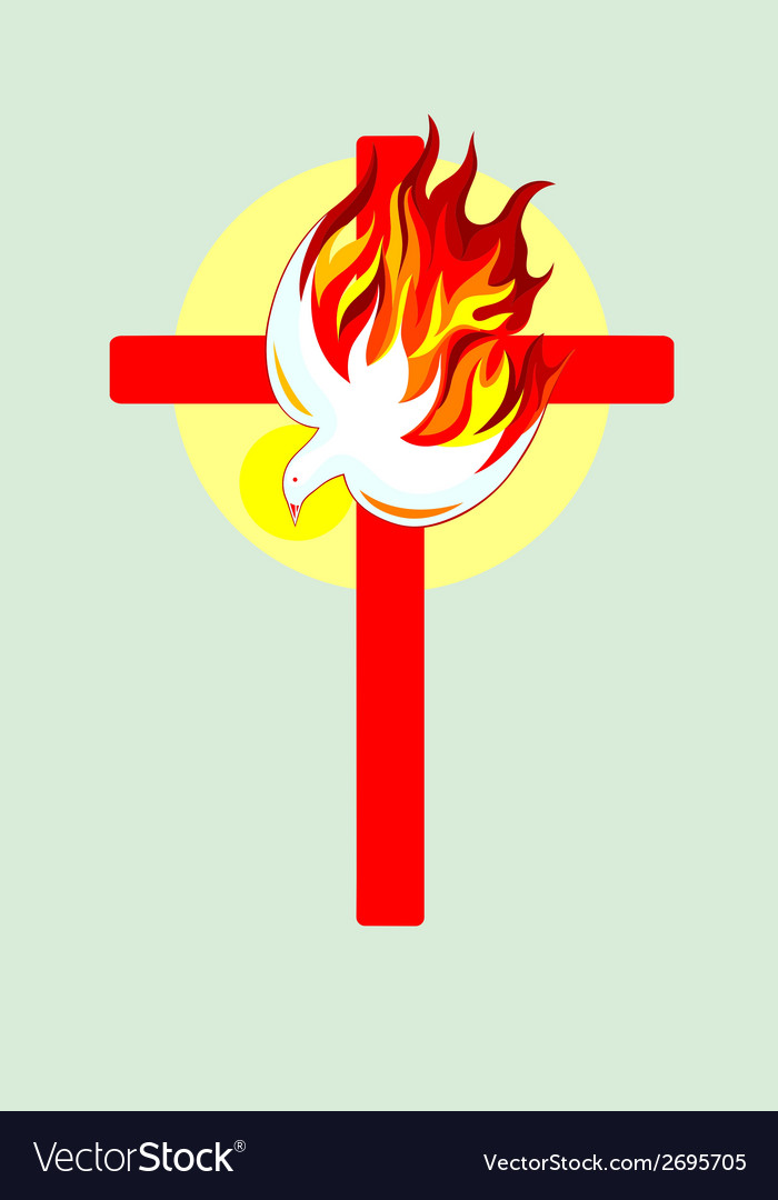 Cross n holyspirit vector | Price: 1 Credit (USD $1)