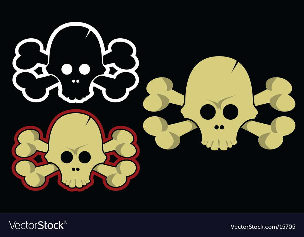 Crossbones vector | Price: 1 Credit (USD $1)