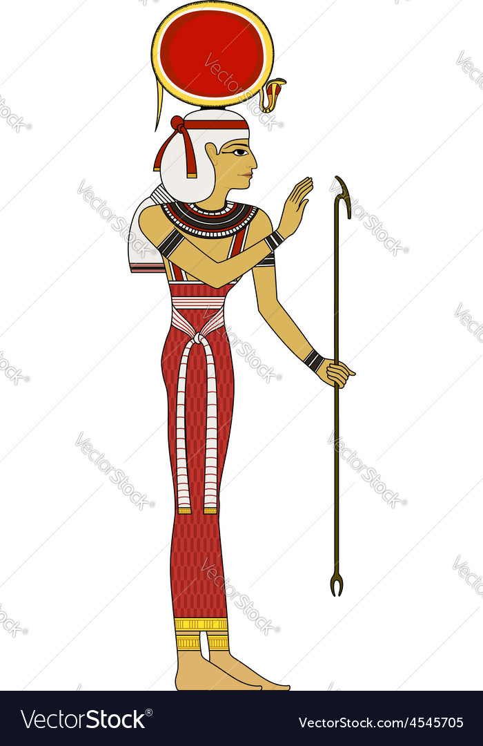Isis  isolated figure of ancient egypt god vector | Price: 1 Credit (USD $1)