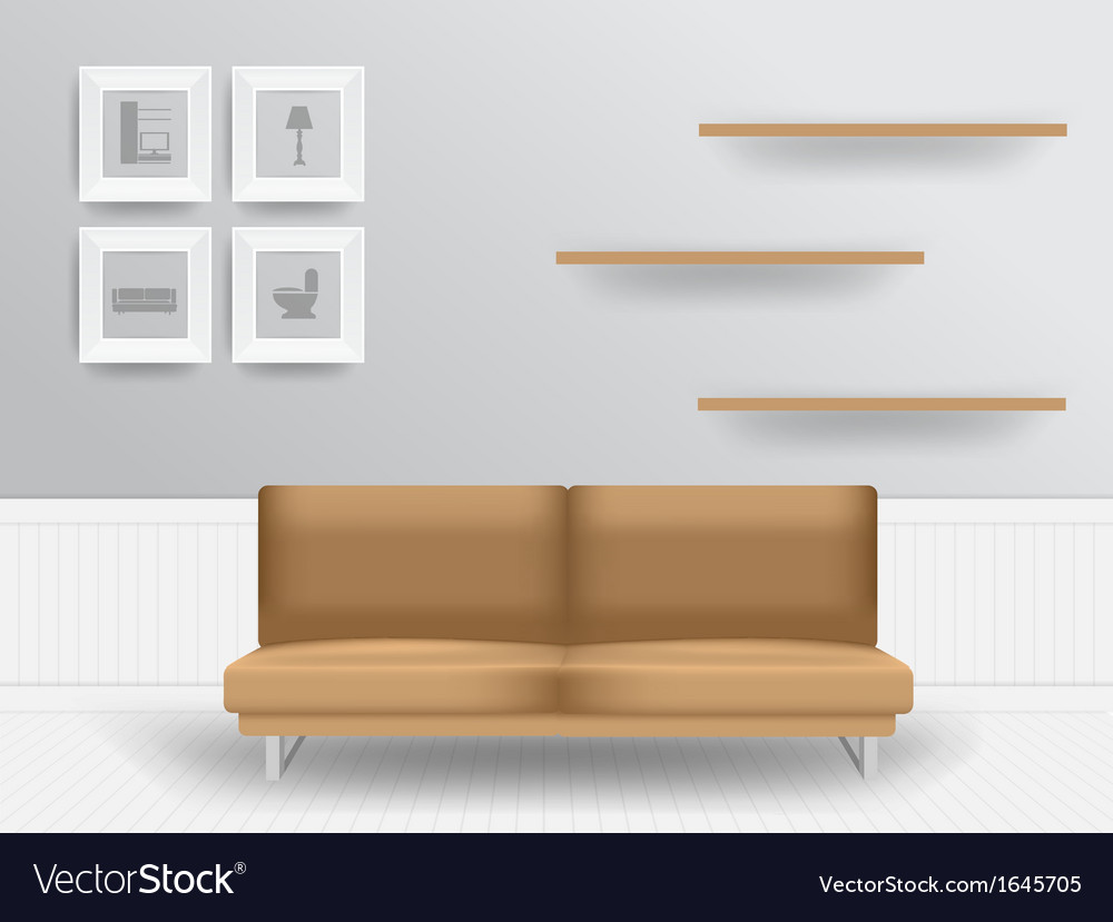 Living room interior concept vector | Price: 1 Credit (USD $1)