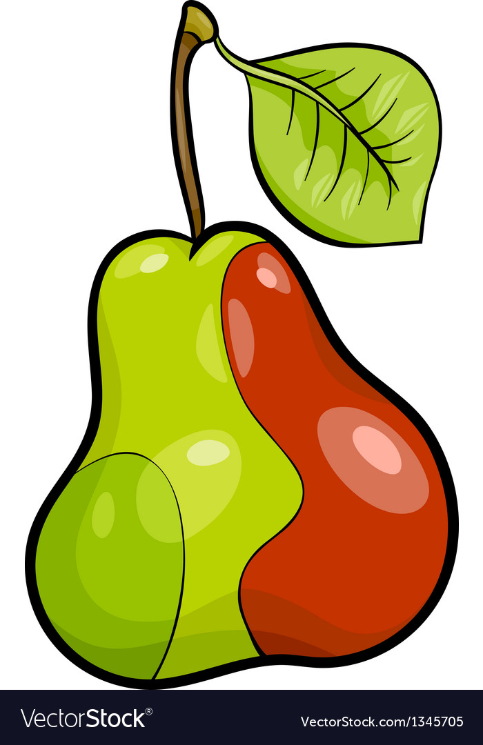 Pear fruit cartoon vector | Price: 1 Credit (USD $1)