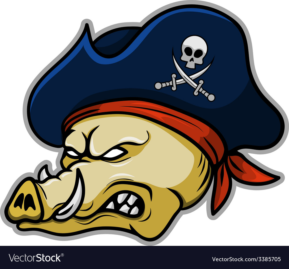 Pirate hogs vector | Price: 3 Credit (USD $3)